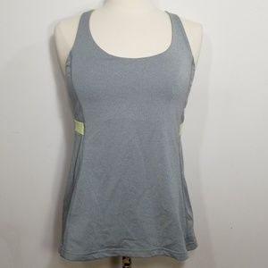 Lucy Grey & Neon Yellow Athletic Tank Med
